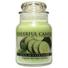 Cheerful Candle Vonná svíčka ve skle Okurkové osvěžení CB25_6oz\n\n