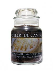 Cheerful Candle Vonná svíčka ve skle Karamelové macchiato CB04\n\n