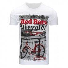 Pánské moderní bílé tričko s potiskem (triko)