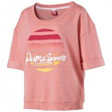 Puma Varsity Short Sleeve Sweat růžová M