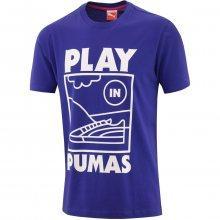 Puma Sneaker Tee modrá S