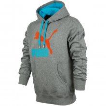 Puma Logo Hoody šedá S