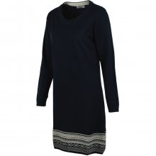 Brakeburn Fairisle Hem Dress modrá L