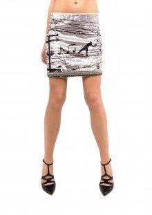 Culito from Spain stříbrná sametová sukně Partitura Eléctrica - XS