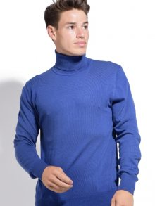 William de Faye Pánský svetr s kašmírem WFM12 BLEU ROY\n\n