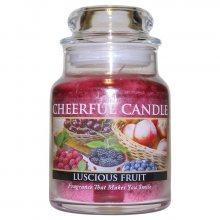 Cheerful Candle Vonná svíčka ve skle Lahodné ovoce CB90_6oz\n\n