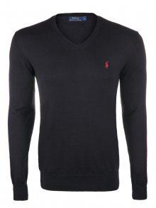 Černo-červený prémiový svetr od Ralph Lauren Velikost: S