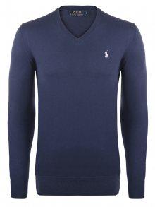 Modro-bílý prémiový svetr od Ralph Lauren Velikost: XL