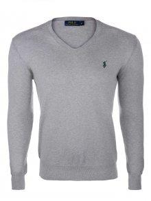 Šedý prémiový svetr od Ralph Lauren Velikost: L