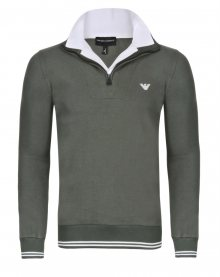 Khaki luxusní svetr na zip od Emporio Armani Velikost: S