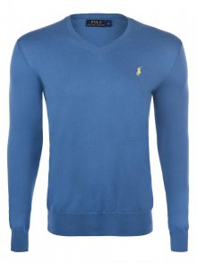 Modro-žlutý prémiový svetr od Ralph Lauren Velikost: S
