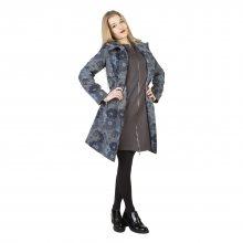 Šedý kabát LARA Fontana 2.0 Barva: Modrá, Velikost: 40