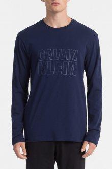 Calvin Klein tmavě modré pánské tričko L/S Crew Neck  - S