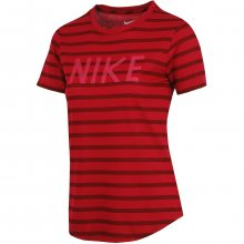 Nike Tee Stripe Crew vínová XS