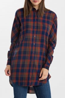 KOŠILE GANT O2. HYGGE CHECK LONG SHIRT