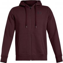 Under Armour Rival Fitted Full Zip vínová S