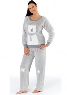 Dámské pyžamo Fordville LN000477 M/L Šedá