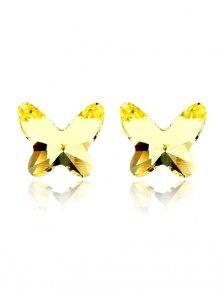 Gold Silver Dámské náušnice GS 051 jaune\n\n