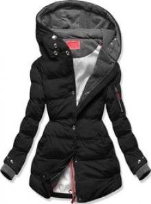 MODOVO Dámská zimní bunda s kapucí S600 černá