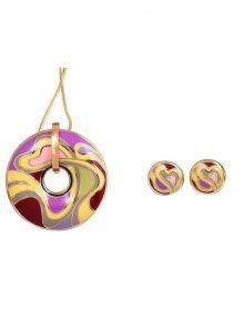 Rose Salome Jewels Dámský set s náhrdelníkem a náušnicemi BNGE016L_MULTICOLORED\n\n