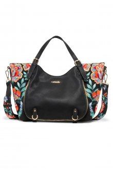 Desigual černá kabelka s květinovými motivy Odissey Rotterdam