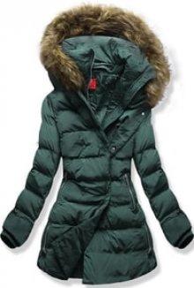 MODOVO Dámská zimní bunda s kapucí A-248 khaki
