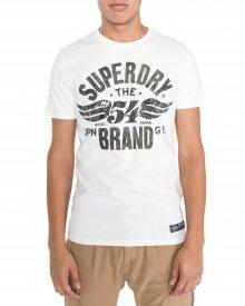 Triko SuperDry   Bílá   Pánské   XL