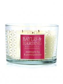 Baylis & Harding Vonná svíčka ve skle - Fík a Granátové jablko BMMP3WICK\n\n