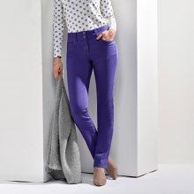 Blancheporte Kalhoty s push-up efektem, vysoká postava fialová 36