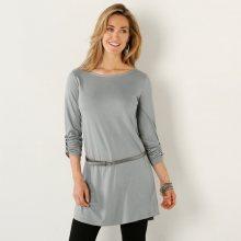 Blancheporte Jednobarevná tunika s dlouhými rukávy šedá 38/40