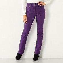 Blancheporte Rovné kalhoty s vysokým stahujícím pasem švestková 36