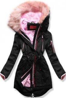 MODOVO Dámská zimní bunda s kapucí PO-301 černá