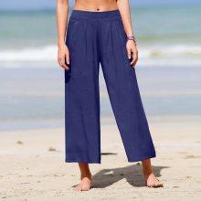 Blancheporte Jednobarevná kalhotová sukně modrá 36