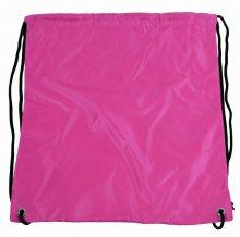 Pytlík do tělocviku / na cvičky jednobarevný stahovatelný růžový 3H02 - růžová