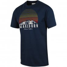 Brakeburn Mountains Sunset Tee modrá XL