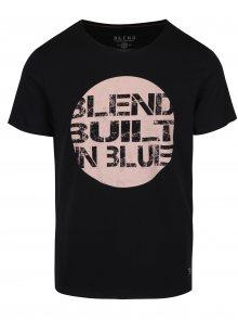 Černé tričko s potiskem Blend