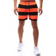 Pánské koupací šortky oranžovo-černé