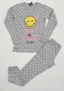 Dívčí pyžamo Smile PL22049 146/152 Šedá