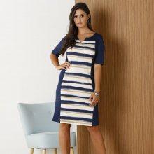 Blancheporte Pruhované šaty modrá/šedá 46/48