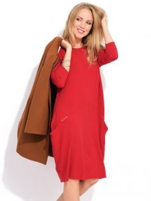 LA FILLE DU COUTURIER Dámské šaty DANIELA K1001 ROUGE\n\n