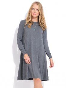 LA FILLE DU COUTURIER Dámské šaty SUZIE K1026 ANTHRACITE\n\n