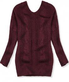 Bordó svetr s mašlí