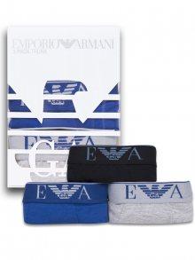 Černé, modré a šedé luxusní boxerky od Emporio Armani Velikost: S