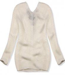 Bílý svetr s mašlí