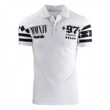 Pánské polo tričko s krátkým rukávem bílé