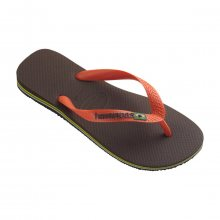 Havaianas Brasil Logo Brown/Orange hnědá EUR 41-42