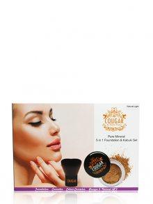 Cougar Sada minerálního makeupu a kabuki štětce, odstín Natural Light\n\n