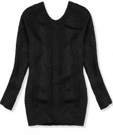 Černý svetr s mašlí