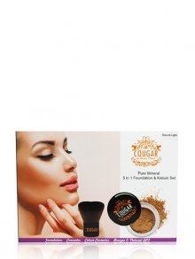 Cougar Sada minerálního makeupu a kabuki štetce, odstín Cinnamon\n\n
