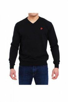 Pierre Cardin V-Logo černý Svetr XL černá